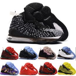 2019 scarpe da passeggio a fondo duro Moda James Uomo Scarpe da pallacanestro Uguaglianza Oreo Bred Lebron 17 Battleknit Cuscino firmato Cestini Sport Sneaker Uomo Sneaker Taglia 7-12