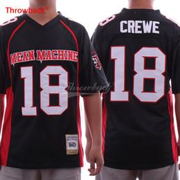 2019 calcio libero Paul Crewe 18 Mean Machine Maglia da calcio Versione cinematografica Maglie tutte cucite da uomo Nero Spedizione gratuita sconti calcio libero