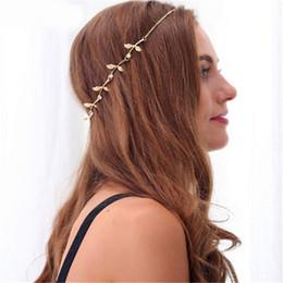 accessori per capelli foglia oro Sconti 2019 Vendita calda Accessori per capelli Fiori e foglie dorate con punte per capelli Accessori per capelli stile retrò