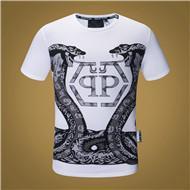 Deutschland 19SS Italien Designer Plain T-Shirt Shirts Mode klassische Schlange lässig Blumenstickerei Streifen Luxus T-Shirt Herren Marke Phillip T-Shirts cheap floral t shirts Versorgung