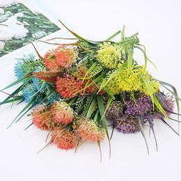 2019 bouquet di erbe artificiali fiori artificiali di tarassaco 33cm mazzi di piante decorazioni per la casa fiori artificiali erba piante finte casa bonsai sconti bouquet di erbe artificiali