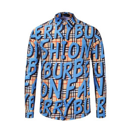 Graffiti kleidung frauen online-2019 Modemarke Designer Mens Frauen Casual Business Hemd Bluse Graffiti Revers Shirt soziale Marke Kleidung