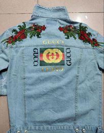 Jeans punk sciolti online-European Americanteenager Hip Hop Punk Streetwear Giacca di Jeans Uomo Allentato Hip Hop Denim Giacche cappotto Taglie M -2xl Spedizione Gratuita