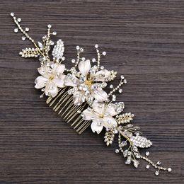 2019 fascinadores lindos Casamento Nupcial Da Dama De Honra Combs Tiaras de Prata Handmade Rhinestone Pearl Headbands Acessórios Para o Cabelo de Luxo Headpiece Tiara Jóias Z01