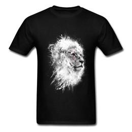 2019 tissu de haute qualité pour t-shirt O-Cou Bataille Roi Lion Tshirt Imprimé Mode Nouveau Tee Shirt 100% Coton Tissu Hommes T-Shirt Casual Tops T-shirt de Haute Qualité tissu de haute qualité pour t-shirt pas cher