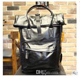 computer leder rucksack für männer Rabatt Outlet-Marke Tasche Mode dreidimensionale Tasche Leder Student Rucksack Outdoor-Freizeit Herren Rucksack aus hochwertigem Leder Computer