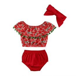 4564ade18 Discount watermelon outfit boy - Newborn Infant Baby Girls Clothing Set  Child Girl Kids Watermelon Print