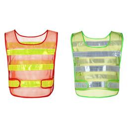 2019 uniformes de segurança 1 PCS Colete de Segurança Reflexivo Sólida Translucent Aviso Jaqueta de Segurança Ao Ar Livre Colete Uniformes de Trabalho Sportswear desconto uniformes de segurança