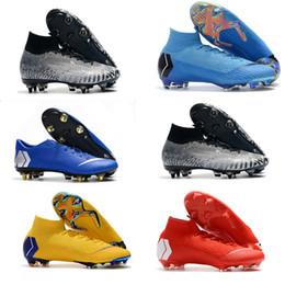 Élite originale en Ligne-Nike Mercurial Neymar Superfly VI 360 Original FG KJ XJ CR7 Ronaldo Neymar Hommes Femmes Haute SG Chaussures De Football 20e Bottes De Football Crampons