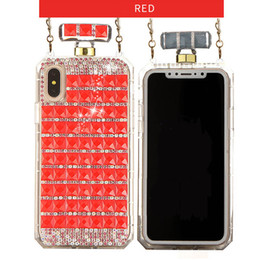 2019 diamante sparkle telefone casos Tampa do projeto do frasco de perfume para iphone x xs max xr 3d handmade brilhante sparkle diamante tpu soft phone case para iphone 6 s 6 plus 7 8 plus desconto diamante sparkle telefone casos