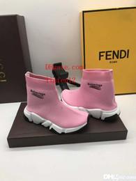 Botas de chicas atléticas online-Zapato de niña negro rosado blanco niño baloncesto zapatillas de deporte zapatillas de deporte zapato del muchacho calcetín atlético correr ba-le1