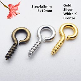 2020 accesorios de moda al por mayor de bijoux Wholesale 1000pcs Small Sheep Eyes Nail Screw Handmade For Beaded Pendant Bijoux Connector Diy Fashion Jewelry Making Accessorie rebajas accesorios de moda al por mayor de bijoux