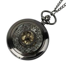 Orologio digitale romano online-Orologio da tasca con collana di quarzo digitale di epoca romana orologio da tasca in bronzo con orologio da taschino nero per uomo e donna