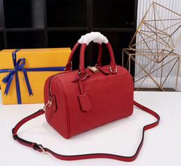Diseñadores almohadas online-Nuevos bolsos de hombro de las mujeres del diseñador Bolsos de cuero Genunie Bolsa de almohada Speedy Con bloqueo y clave Marca Cross Body Bag 42400