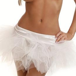 Erwachsener flauschiger rock online-Womens Tutu Kostüm Erwachsene Party Dance Tüllrock Kurze Flauschige Petticoat Sweet Sensations Set Braut Dessous Bustier Dessous Kleid 7001