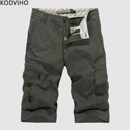 sommer arbeit kleidung männer Rabatt Cargo Shorts Männer Streetwear Baumwolle Casual Sommer Cargo Camo Work Short Herren Plus Size Lose Board Fashion Kleidung 10XL