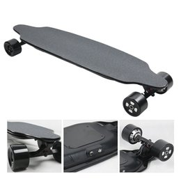 neue elektrische skateboards Rabatt New Stong Electric Power Skateboard 4-Rad-Selbst Balancing Skateboard mit Fernbedienung Import Maple Elektrolongboard für Erwachsene