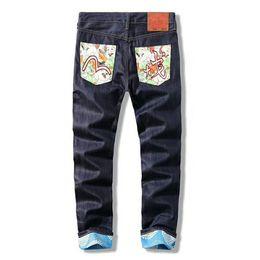 caldo pantaloni giapponesi Sconti 2019 Jeans da uomo firmati Jeans dritti slim Jeans aderenti Jeans strappati Uomo Pantaloni casual Pantaloni lunghi di vendita calda Pantaloni taglie forti 28-40