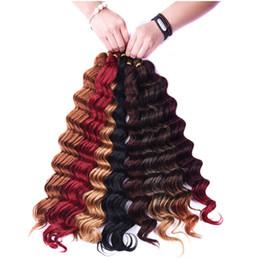 Meilleures extensions de cheveux de tressage en Ligne-Cheveux synthétiques en vrac Crochet Tressage Deep Wave Twist 20 pouces 80g Synthétique Tresse Extensions de Cheveux Meilleure Vente