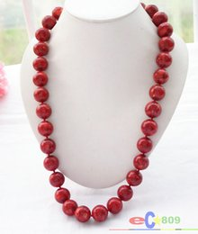"""Beautiful 6-14mm Red Coral Round Beads Necklace Earring 18/"""" LL002"""