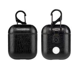 Сумка из натуральной кожи для AirPods Case Vintage Чехол из натуральной кожи для Apple Airpod Роскошная защитная сумка для хранения с карабином 100шт от