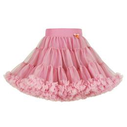 Meshes ballet on-line-Baby Girl Tutu Vestido Plissado Ballet Menina Princesa Vestido Designer Saia Cor Sólida Malha A Linha Saia 48