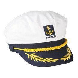 Canada Vente en gros- DSGS 2016 Hot Style Sailor Ship Boat Capitaine Chapeau Marine Marins Admiral Casquette Réglable Blanc cheap adjustable captain hat Offre