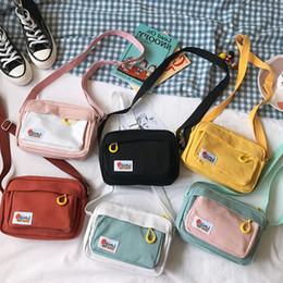 2020 bolsa macia coreia Coreia do Sul ins Academia meninas Contraste Messenger Bag estudante fêmea Artes pouco doce suave Irmã Bolsa Y200111 desconto bolsa macia coreia