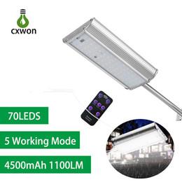 Алюминиевые раковины онлайн-5 режим солнечного света открытый радарный датчик движения и пульт дистанционного управления 70led 1100lm алюминиевый корпус безопасности освещение для крыльца гаража