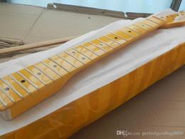 2020 chitarre elettriche gialle trasporto libero chitarra elettrica del collo 22 fret nuovo telecaster a Maple Woods-17-11 Giallo chitarre elettriche gialle economici