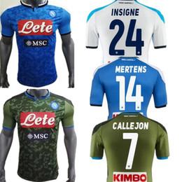 Camiseta de fútbol de nápoles online-2019 camisetas de fútbol 2020 Versión Reus Ronaldo jugador de fútbol camisa jerseys Napoli Nápoles 19 20 casa LOZANO HAMSIK L.INSIGNE jugador shirt