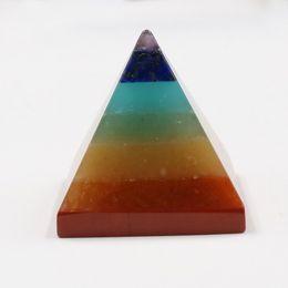 Pierre de cristal naturel Décoration de pierre d'énergie de yoga de pyramide de chakra (30X30X30MM) ? partir de fabricateur