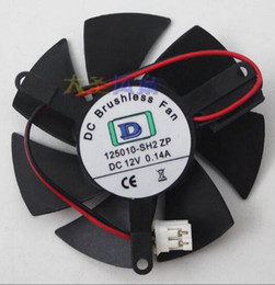 FOR Power PLD05010S12L diameter 4.6CM hole spacing 3.9CM 12V 2 wire ultra-quiet graphics fan
