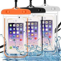 Handy-trockner online-Universelle fluoreszierende Telefon wasserdichte Tasche transparente Handy-Trockentasche für IPhone6 Plus IPhone6 6 Zoll