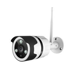 Cámara de visión nocturna al aire libre impermeable online-Cámara de seguridad para exteriores, cámara de bala de audio bidireccional 1080P, cámara de vigilancia impermeable IP66, visión nocturna, detección de movimiento