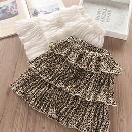 diseñador de ballet Rebajas Moda estampado de leopardo faldas de las muchachas de la gasa de la colmena de las muchachas de las faldas con gradas Verano ropa de diseñador de los niños del ballet Tutu faldas ropa de las muchachas A4347