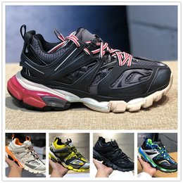 designer tracks for man Promo Codes - 2019 Release 3.0 tess Paris track men gomma maille black For women Triple S Clunky Sneaker Casual Shoes Hot Authentic Designer Shoe