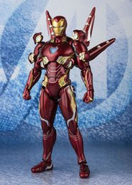 Armar armas online-Marvel Avengers: Endgame Ironman MK50 Bleeding Edge Armor Nano Weapon Action Figure Set Model Toy