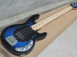 2019 cordas azuis de baixo Frete Grátis Fábrica Azul Escuro Elétrico Bass Guitar com 4 Cordas, Hardware Chrome, Maple Fretboard, 21 Frets, Pickguard Preto, de Alta Qualidade cordas azuis de baixo barato