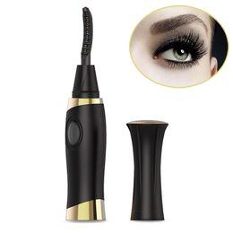портативный бигуди ресницы Скидка Portable Electric Heated Eyelash Curler USB Charging Cosmetic Natural Long Lasting Curling Eyes Lashes  Tool