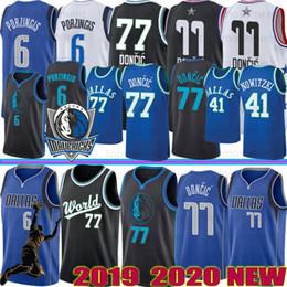 dirk nowitzki Desconto NCAA Luka 77 Doncic College Basketball Jerseys Kristaps 6 Porzingis Dirk Nowitzki 41 Donovan 45 Mitchell Jerseys da S-XXL costurado