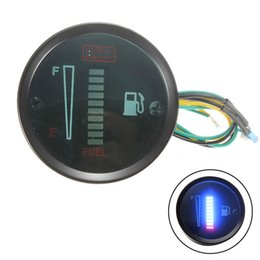 car fuel meter Promo Codes - 52mm 12V Car Fuel Gauge Fuel Level Meter 10 LED Indicator light Car And Motorcycle Accessories
