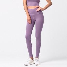 2019 maglia gambali di allenamento Donne pantaloni yoga stretti delle ghette di allenamento Leggings a vita alta senza saldatura Mesh Stitching Esecuzione abiti da donna Gym Clothes maglia gambali di allenamento economici