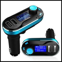 2019 usb-display-adapter BT66 Bluetooth FM Transmitter In-Car-Radio-Adapter USB-Autoladegerät Unterstützung TF / SD-Karten mit LCD-Anzeige für Smartphine günstig usb-display-adapter