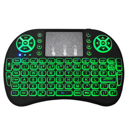 2019 pc linux os I8 Backlight Teclado 2.4 GHz Mini Teclado Sem Fio Air Mouse Touchpad Para Android TV Box Xbox PC Inteligente TV PS3 / PS4 HTPC IPTV