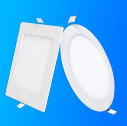 2019 panneaux de plafond en grille Dimmable LED Panel Light 3W 6W 9W 12W 15W 18W Encastré au plafond LED Downlight Spot intérieur pour conducteur AC110V 220V Driver inclus