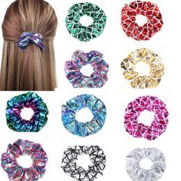 Mädchen-Rosen-Blumen-Haar-Band-Seil-elastischer Pferdeschwanz-Halter ScrunchT CC