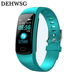 relógios baratos Desconto DEHWSG pulseira de fitness monitor de freqüência cardíaca pressão arterial relógio Esporte ao ar livre À Prova D 'Água Para IOS Android Xiaomi PK fit bit