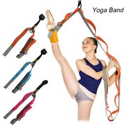 2019 розовые полосы сопротивления Door Flexibility Stretching Leg Stretcher Strap for Ballet Cheer Dance Gymnastics Trainer ZJ55