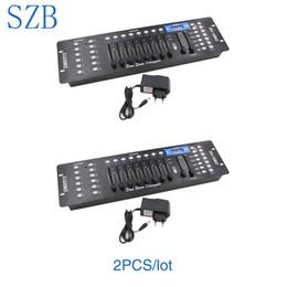 Pc-konsolen-controller online-2 STÜCKE SZB192 DMX-Controller DMX512 Console DJ-Controller Lichtsteuerung für Bühnenbeleuchtung / SZB-DISCO192